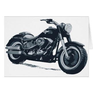 Every Boy loves a Fat Blue American Motorcycle Greeting Card