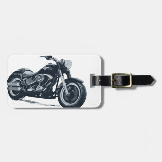 Every Boy loves a Fat Blue American Motorcycle Luggage Tag