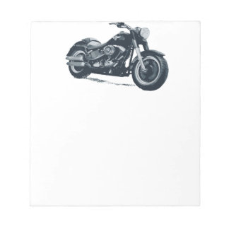 Every Boy loves a Fat Blue American Motorcycle Notepad