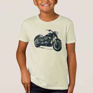 Every Boy loves a Fat Blue American Motorcycle T-Shirt