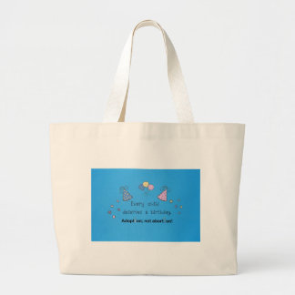 Every child deserves a birthday Adoption Bags