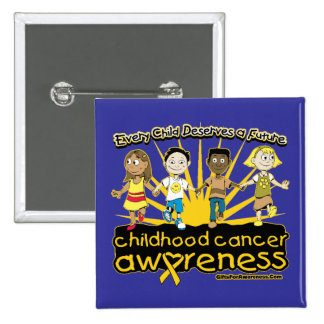 Every Child Deserves A Future Childhood Cancer 15 Cm Square Badge