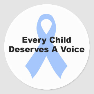 Every Child Deserves A Voice Round Sticker