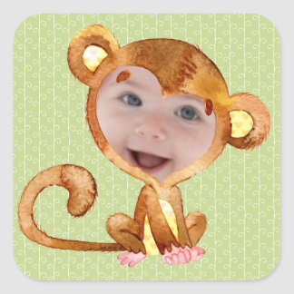 Every Child In A Monkey Suit Square Sticker