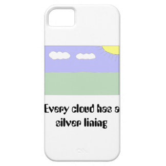 Every cloud has a silver lining barely there iPhone 5 case