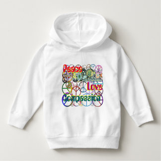 Every Color of the Rainbow Peace Sign Collage Hoodie