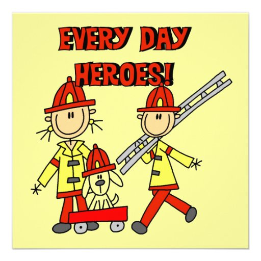 Every Day Heroes Firefighters T-shirts and Gifts Announcement