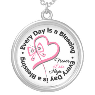 Every Day is a Blessing - Breast Cancer Awareness Pendants