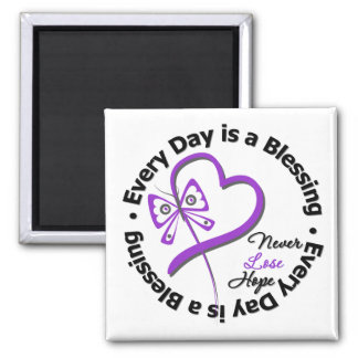 Every Day is a Blessing - Hope Pancreatic Cancer Square Magnet
