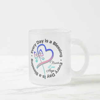 Every Day is a Blessing - Hope Thyroid Cancer 10 Oz Frosted Glass Coffee Mug