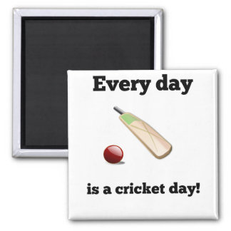 Every Day Is A Cricket Day Magnet