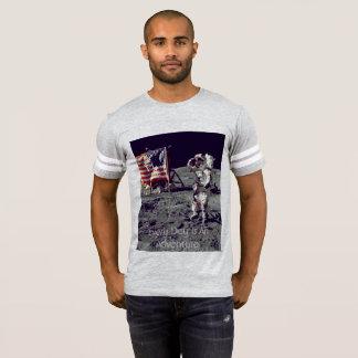 Every Day Is An Adventure Astronaut Flag Moon Man T-Shirt