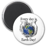 Every day is Earth Day 6 Cm Round Magnet
