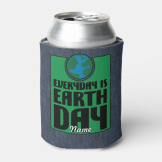 Every Day is Earth Day Can Cooler