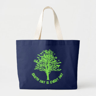 Every Day Is Earth Day Jumbo Tote Bag