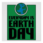 Every Day is Earth Day Poster