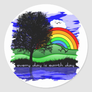 Every Day is Earth Day Round Sticker