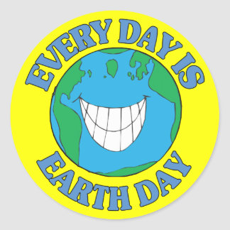 Every Day is Earth Day Round Stickers