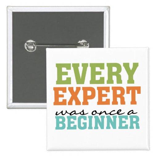 Every Expert Was Once a Beginner Buttons