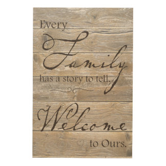 Every Family Has a Story to Tell Wood Wall Art