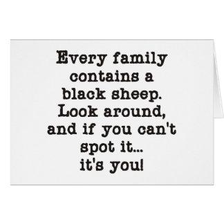 Every Family Has Black Sheep Card