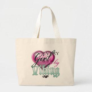 Every girl needs a big viking! jumbo tote bag