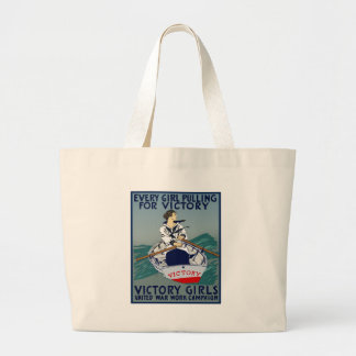 Every Girl Pulling For Victory Large Tote Bag
