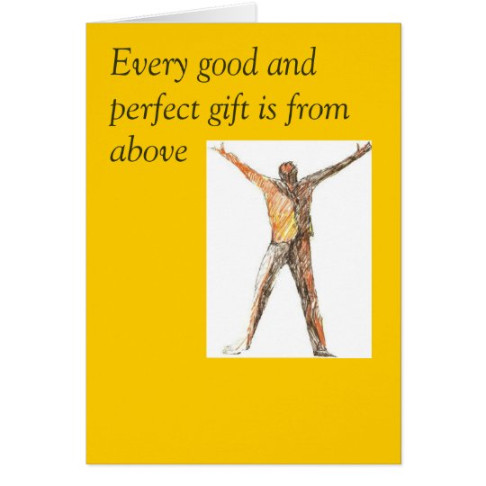 Every good and perfect gift Father's Day Card