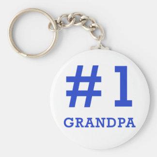 Every Grandpa Deserves a #1 Grandpa Tshirt! Basic Round Button Key Ring