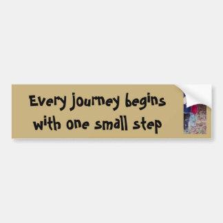 Every journey bumper sticker