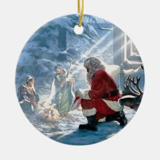 Every Knee Shall Bow Christmas Ornament