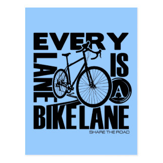 Every Lane A Bike Lane Postcard
