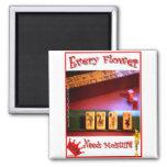 Every Mahjong Flower Needs Moisture! Refrigerator Magnet