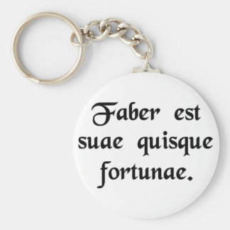 Every man is the artisan of his own fortune. key ring