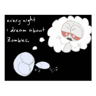 every night i dream about zombies - postcard