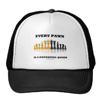 Every Pawn Is A Potential Queen (Reflective Chess) Trucker Hat