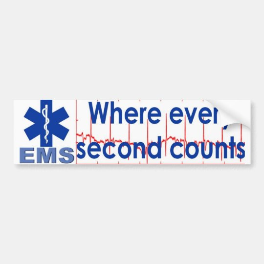 every second counts bumper sticker