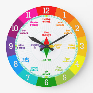 Every Second Counts Rainbow Colors Learning Clock