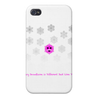 Every Snowflake is Different Cases For iPhone 4