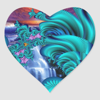every teardrop is a waterfall 60x40 heart sticker