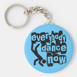 Everybody Dance Now Basic Round Button Key Ring