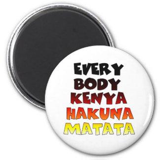 Everybody Kenya Hakuna Matata 6 Cm Round Magnet
