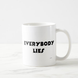 EVERYBODY LIES BASIC WHITE MUG