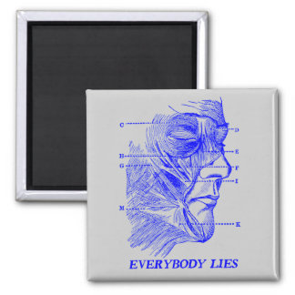 Everybody Lies Square Magnet