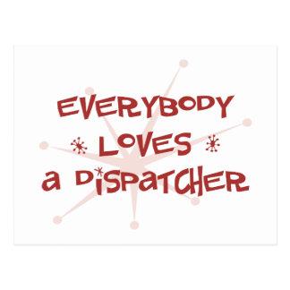 Everybody Loves A Dispatcher Postcard