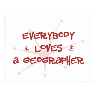 Everybody Loves A Geographer Postcard