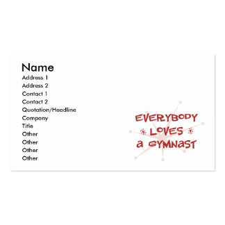 Everybody Loves A Gymnast Business Cards