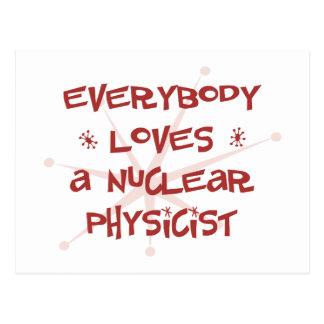 Everybody Loves A Nuclear Physicist Postcard