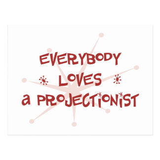 Everybody Loves A Projectionist Postcard