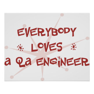 Everybody Loves A QA Engineer Posters
